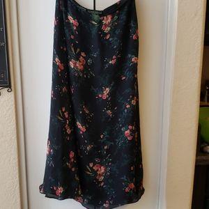 Black floral skirt by Ralph Lauren